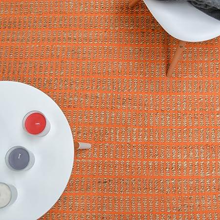 NOVATREND alfombra yute y algodón Explorer, naranja, 160 x 230 cm: Amazon.es: Hogar