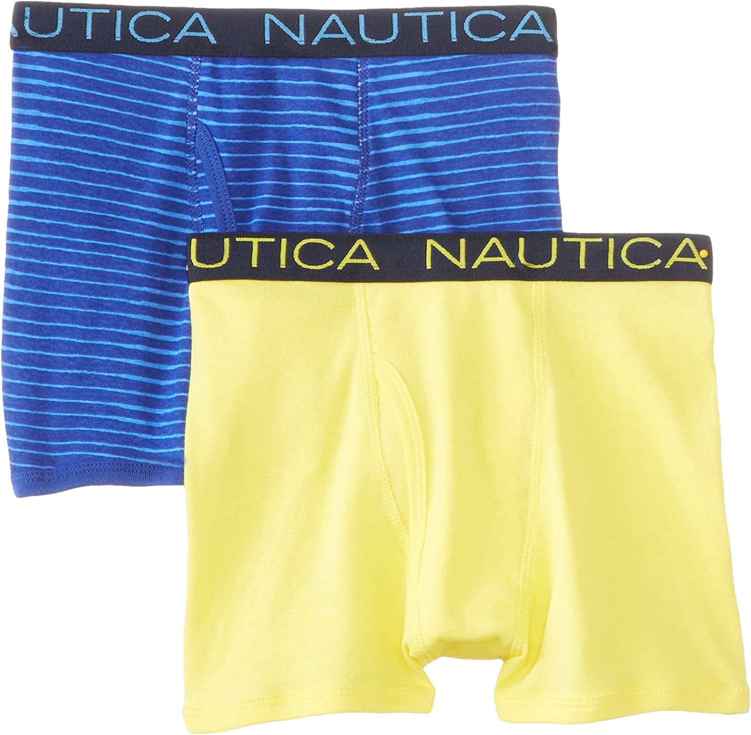 Nautica Boys 2 Pack Solid and Thin Stripe Boxer Brief