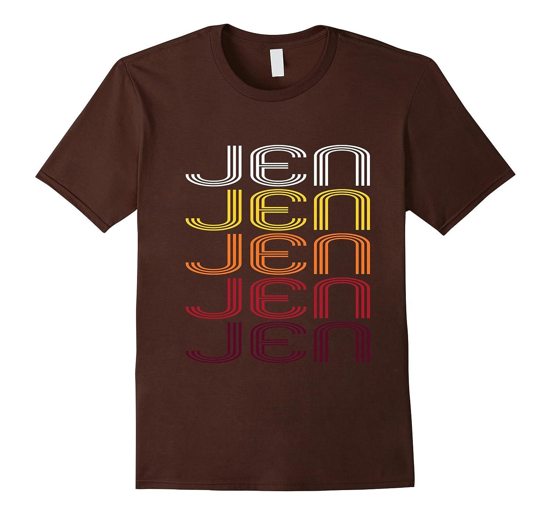 Jen Retro Wordmark Pattern - Vintage Style T-shirt-Vaci