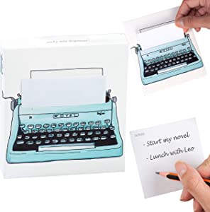 PopNotes Fun Novelty Sticky Notes Notepad School Home Office Supplies Memo Pad Gift - Typewriter