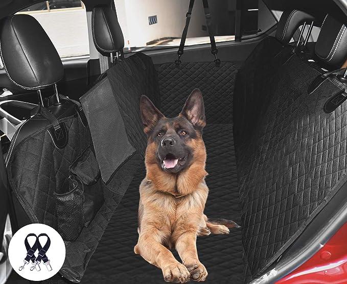 Hundedecke Für Auto Rückbank Cadosigh Universal Kofferraumschutz Wasserfest Anti Rutsch Sitzbezug Seitenschutz Waschbar Autodecke Für Haustiere Mit Sicherheitsgurt Sichtfenste Van Suv Auto