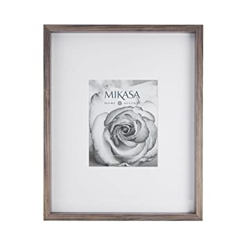 Amazoncom Mikasa 5204421 Gray 8x10 Inch Matted Picture Frame 17