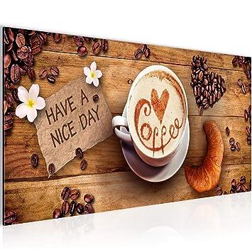 Bilder Küche Kaffee Wandbild Vlies - Leinwand Bild XXL Format ...