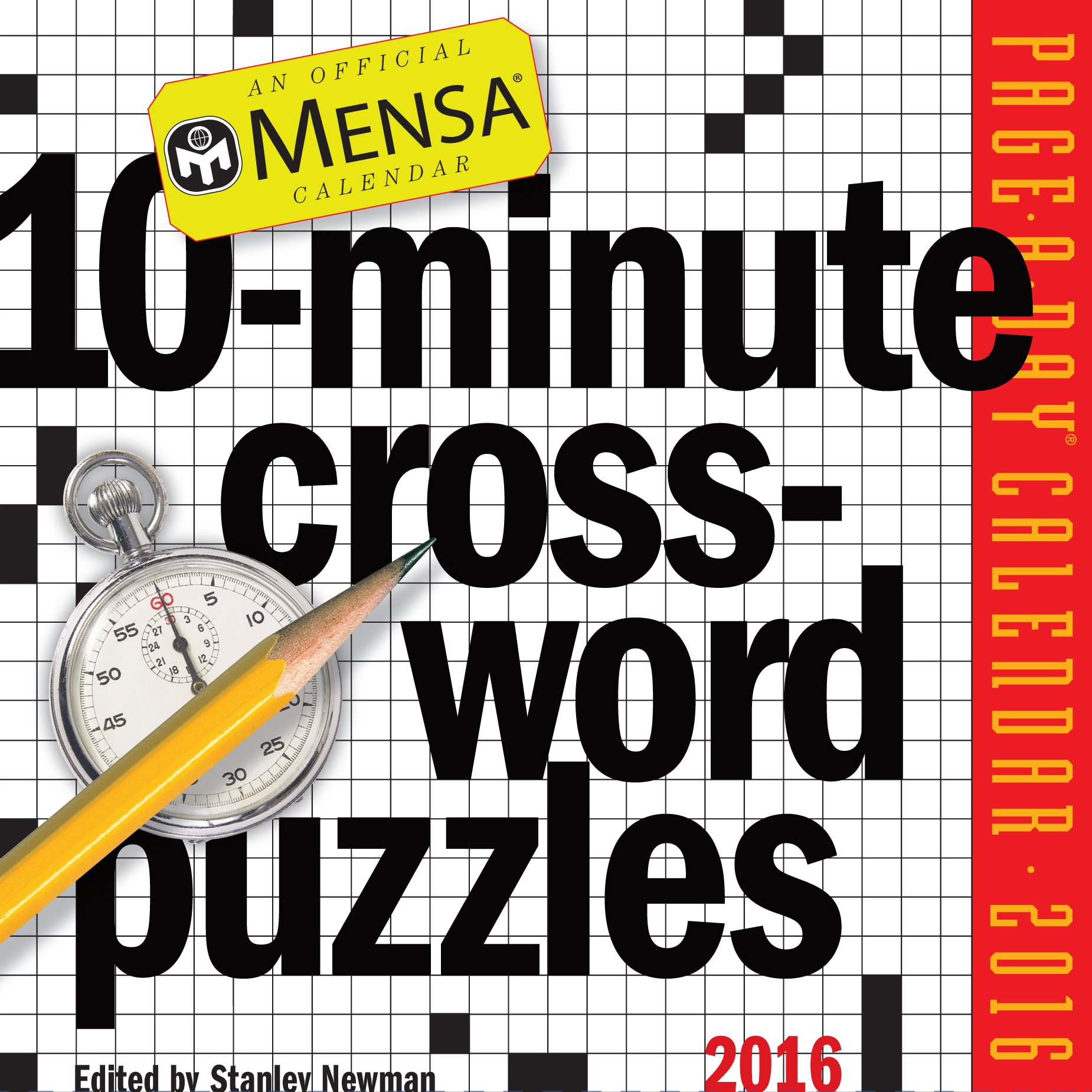 Mensa 10-Minute Crossword Puzzles Page-A-Day Calendar 2016: Stanley Newman:  9780761183006: Amazon.com: Books