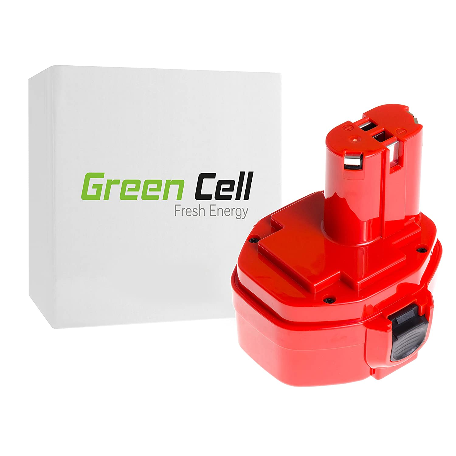Green Cell® 1420 1422 1433 1434 1435 PA14 1.5Ah 14.4V Ni-MH cellules Batterie pour Makita 1051D 4033D 4332D 4333D 5094D 5630D 6228D 6223D 6236D 6237D 6281D 6333D 6336D 6337D 6339D 8280D 8281D 8433D BMR100 ML140 193060-0 192600-1 193062-6 193101-2 Outil
