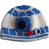 Milk protein cotton yarn handmade baby R2D2 hat - fits adult male