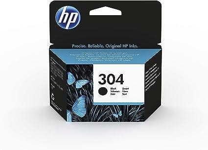 Oferta amazon: HP 304 N9K06AE - Cartucho Original de Tinta Negro, compatible con impresoras de inyección de tinta HP DeskJet 2620, 2630, 3720, 3730, 3750, 3760, HP Envy 5010, 5020, 5030