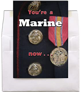 Amazon mb341 protected 5x7 us marine corps birthday greeting mg741 a marine now 5x7 us marine corps graduation greeting card with white square flap envelope m4hsunfo