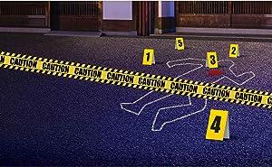 amscan 242266 Crime Scene Decorating Kit, Yellow