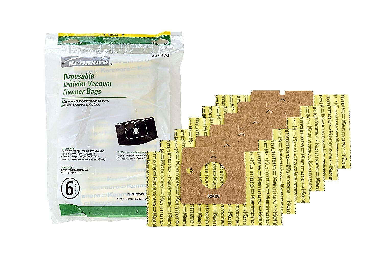 Kenmore 50400 Vacuum Bags. Genuine Kenmore Canister Vacuum Bags - Package of 6 Bags