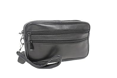 many fashionable best website release info on Frédéric Johns® - Sacoche homme porté main - vide poches - sacoche cuir  homme - sac porté main cuir - pochette cuir - double compartiment - noir