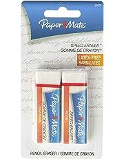 Paper Mate SPEEDerase Eraser, Vinyl Eraser, 2-Carded, White (70823)