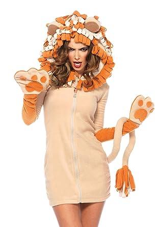 841b93554 Amazon.com: Leg Avenue Women's Cozy Lion Costume: Clothing