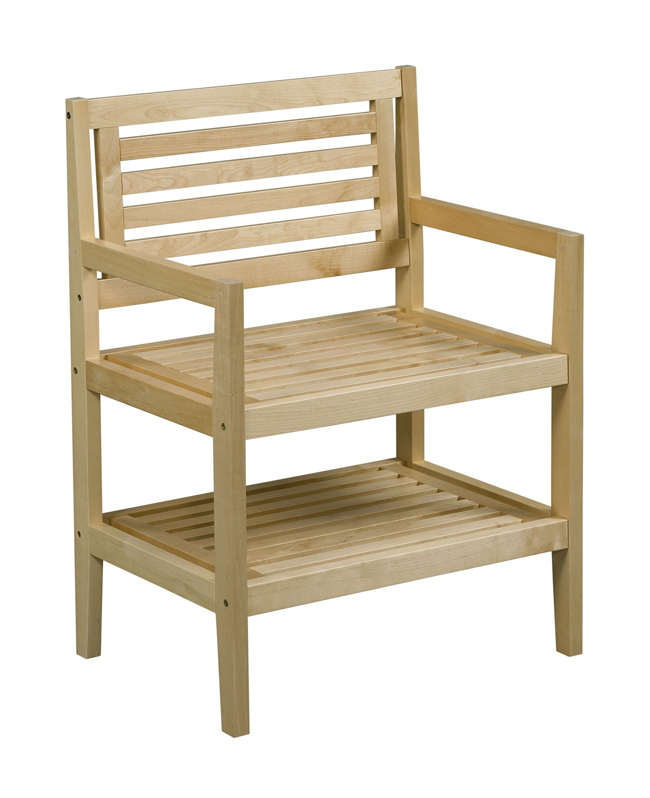 New Ridge Home Goods Dunnsville Solid Birch Wood Accent Chair, Blonde