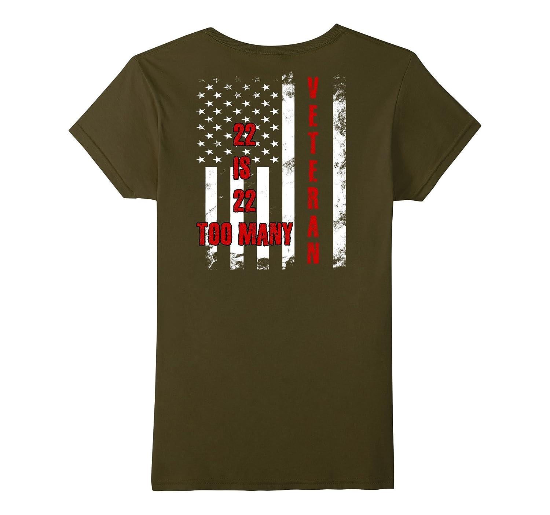 Distressed Veteran Flag 22 Too Many T Shirt