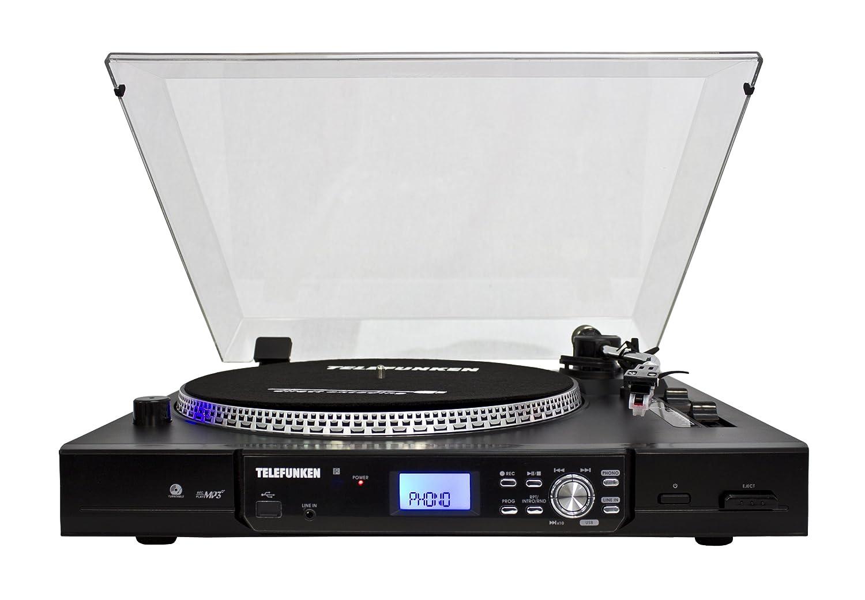 Telefunken TT100EM Mesa giratoria de DJ Moderno (2 velocidades de ...