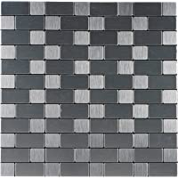 Royllent Peel and Stick Tile for Kitchen, Stick On Tiles Backsplash,Aluminium Mosaic Tile for Accent Glossy Wall,Furniture Decoration,1 sq.ft.