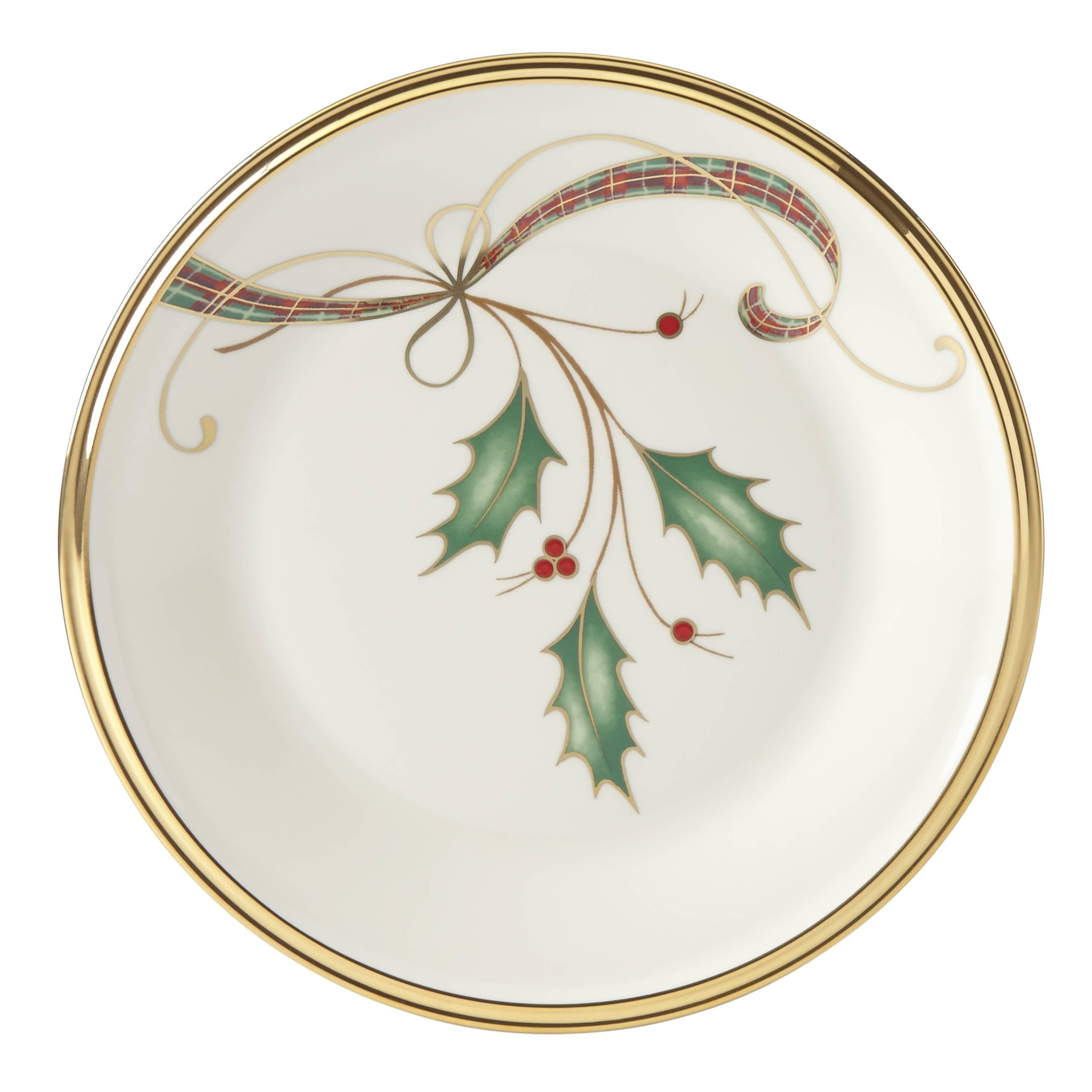Lenox Holiday Nouveau Gold Butter Plate