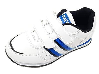 Children/'s Boys Kids Hook /& Loop Casual Trainers Sneakers Size 2-6