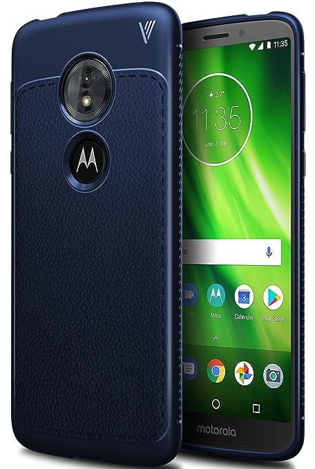 Funda Moto G6 play, iBetter anti-rasca la Carcasa alta calidad TPU de la imitación ninguna Case del teléfono móvil caja del teléfono Cover para Moto ...