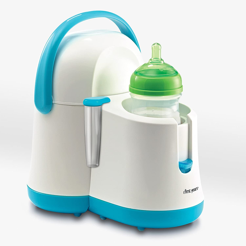 Amazon.com : Antojos Noche calentador de biberones y más fresco, azul / blanco : Baby