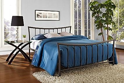 Amazon Com Dhp Bali Metal Bed With Stylish Headboard And Footboard