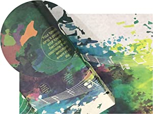 eVincE 10 Music Gift Wrapping Paper standard size for him her Birthday Christmas Hanukkah Holidays All Occasion gifting sheets | New Year Office Gifts | Recyclable thick matte papers