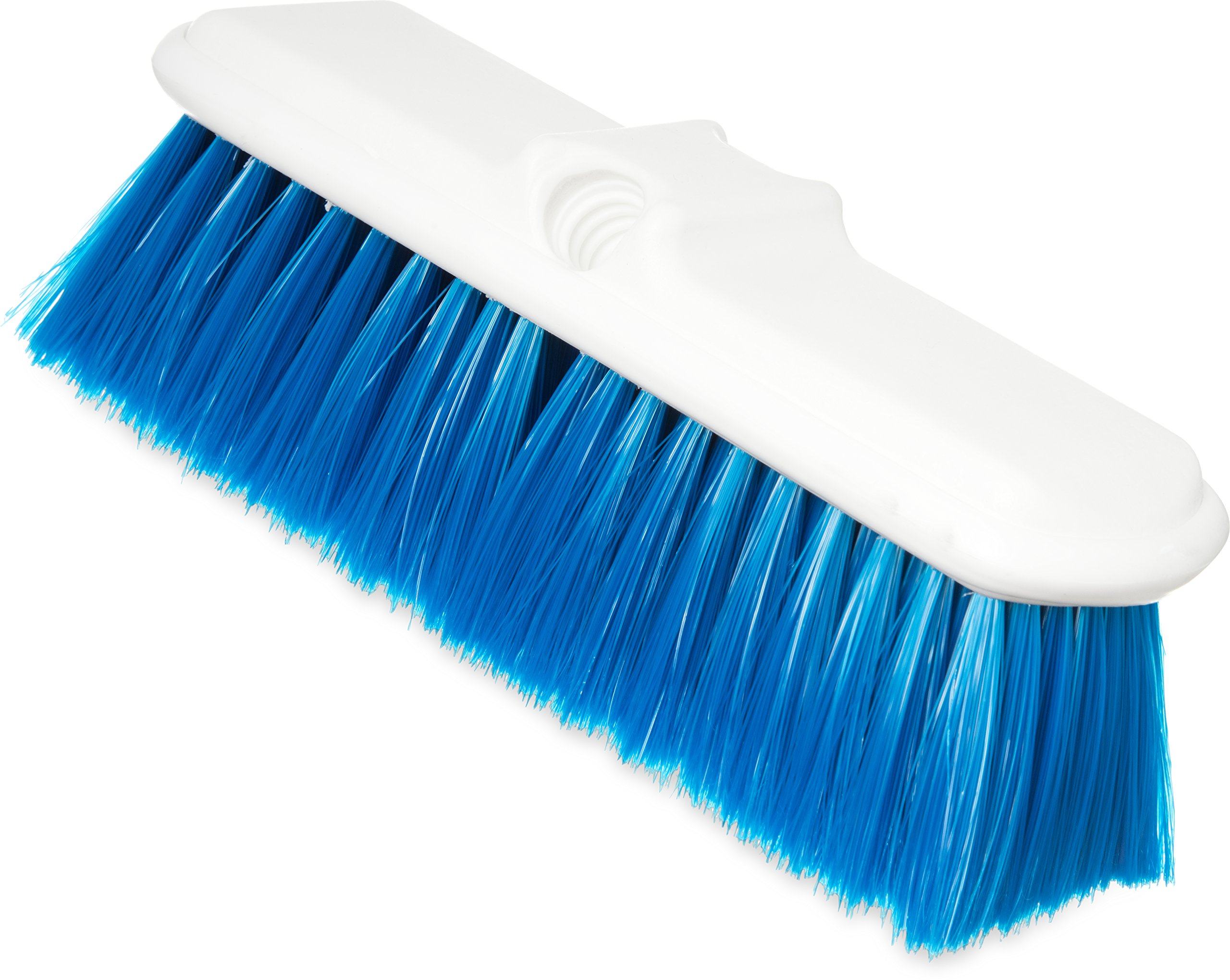 Carlisle 4005014 Plastic Block Flo-Thru Brush, Flagged Nylex Bristles, 9-1/2'' Overall Length x 3'' Width, 2-1/2'' Bristle Trim, Blue (Case of 12)