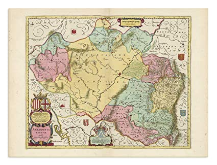 Map Of Spain Navarra.Amazon Com The Blaeu Prints Navarra Spain Aragon Historical
