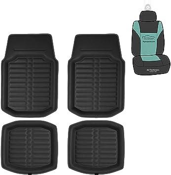 Black Coverking Custom Fit Front and Rear Floor Mats for Select Chrysler Cirrus Models CFMBX1CR9202 Nylon Carpet