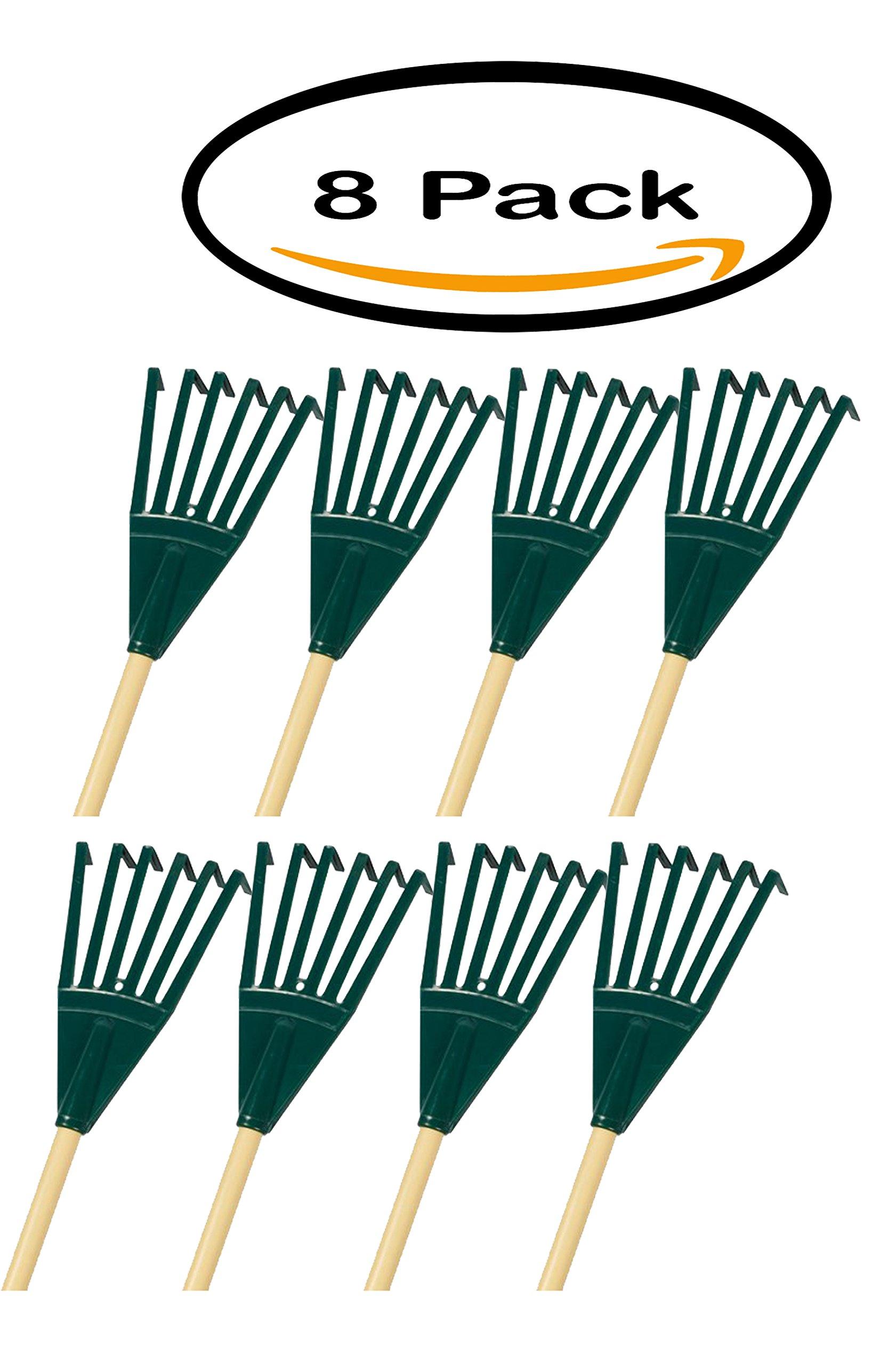 PACK OF 8 - Emsco Group 10'' Poly Shrub Rake