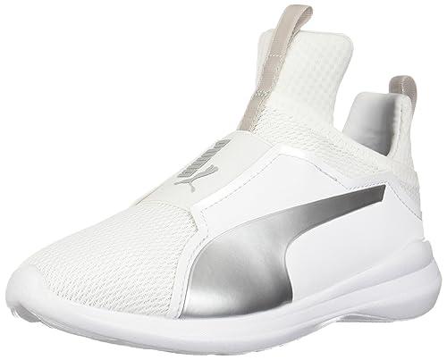 c32a4cedcd2 PUMA Girls  Fierce CORE Sneaker White-Gray Violet