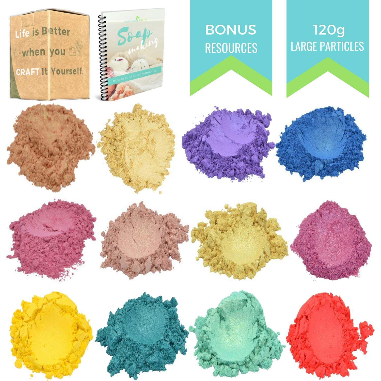 Spring Metallic Mica Powder  - 120 Gram - Bath Bomb Colorant - Resin - Slime - Epoxy Color Pigment - Bonus