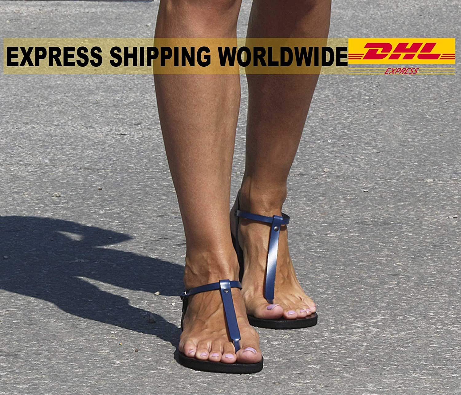 Amazon.com  EXPEDITED SHIPPING Minimalist Sexy Barefoot Style Leather Thong  Sandals T-strap Sandals 9bdf11849431