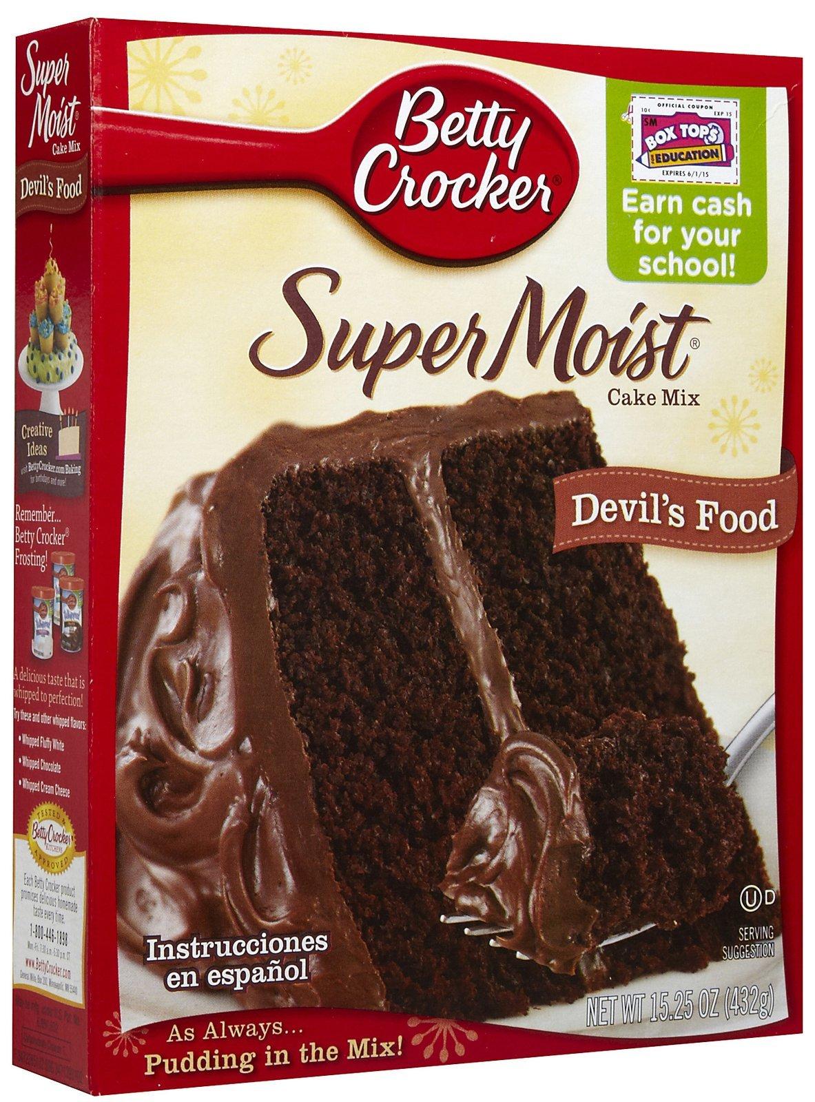 Betty Crocker Super Moist Cake Mix, Devil's Food, 15.25 oz Box