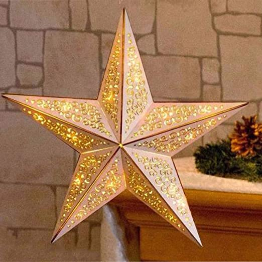 battery operated christmas wooden led star xmas decoration with remote control