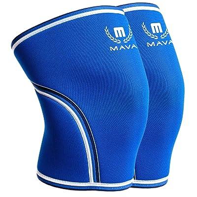 Mava Sports Pair of Knee Compression Sleeves Neoprene 7mm