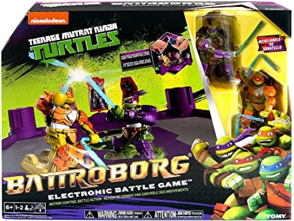 Battroborg Teenage Mutant Ninja Turtles Electronic Battle Game - Michelangelo Vs Donatello