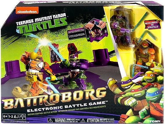 Battroborg Teenage Mutant Ninja Turtles Electronic Battle Game - Michelangelo Vs Donatello