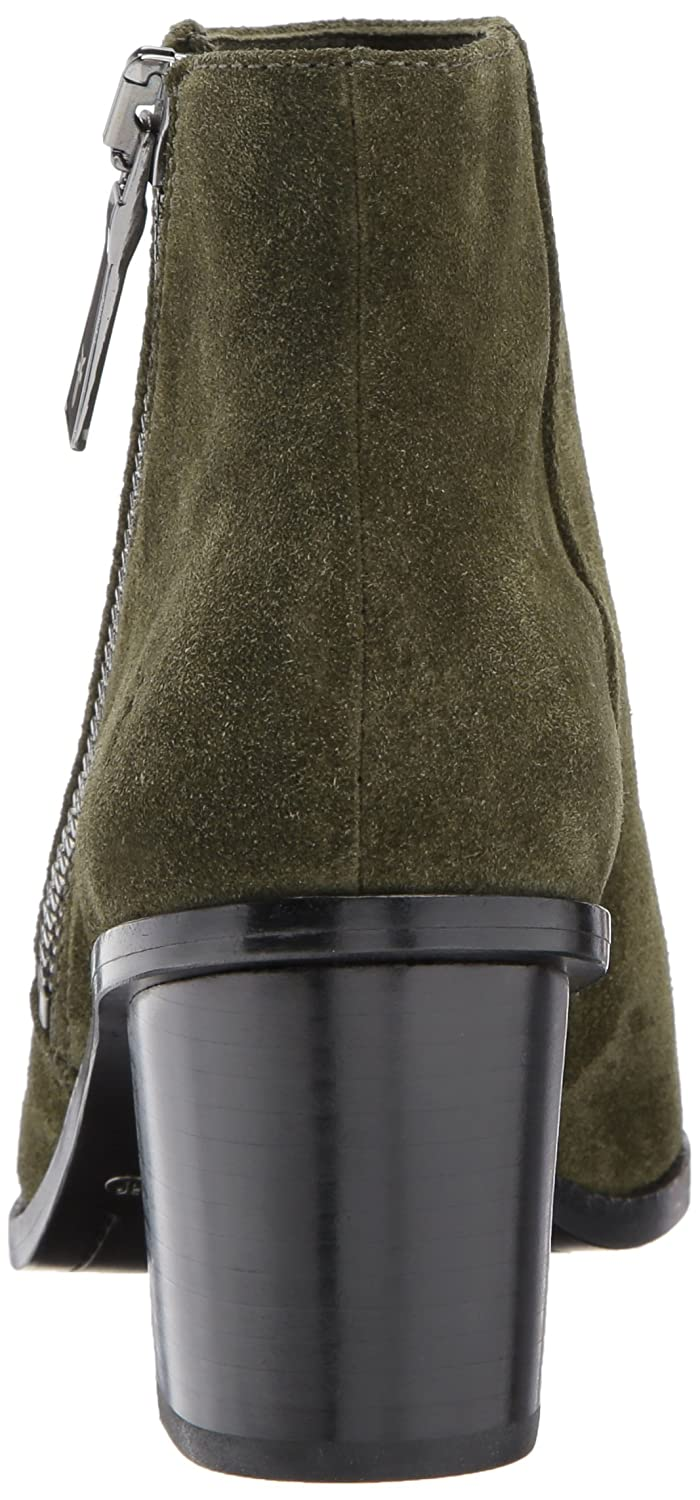 FRYE Women's Brielle Zip Peep Bootie Boot B01MY4NB91 8.5 B(M) US|Forest Soft Oiled Suede