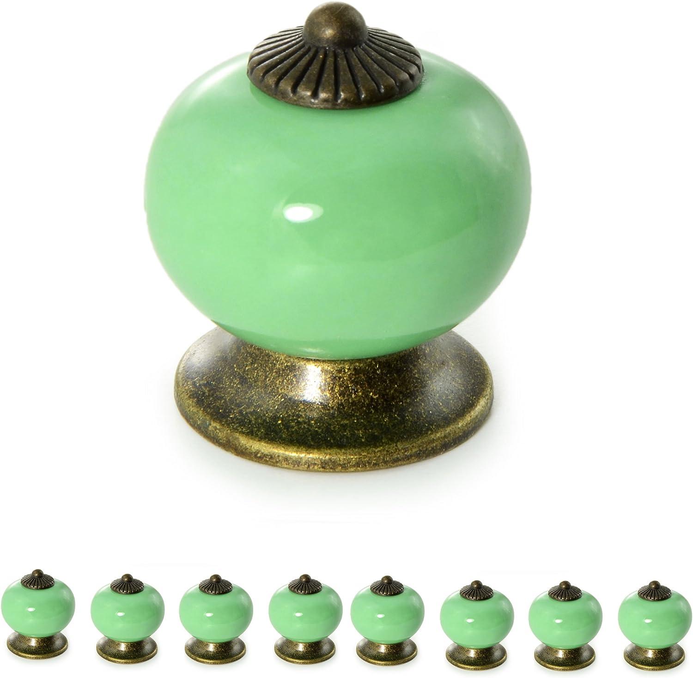 Möbelknopf Möbelgriff  Möbelknöpfe Keramik Möbelknäufe XL Knauf Griff 2 Silber