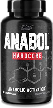 Nutrex Research Anabol Hardcore Anabolic Activator, Muscle Builder and Hardening Agent, 60 Count