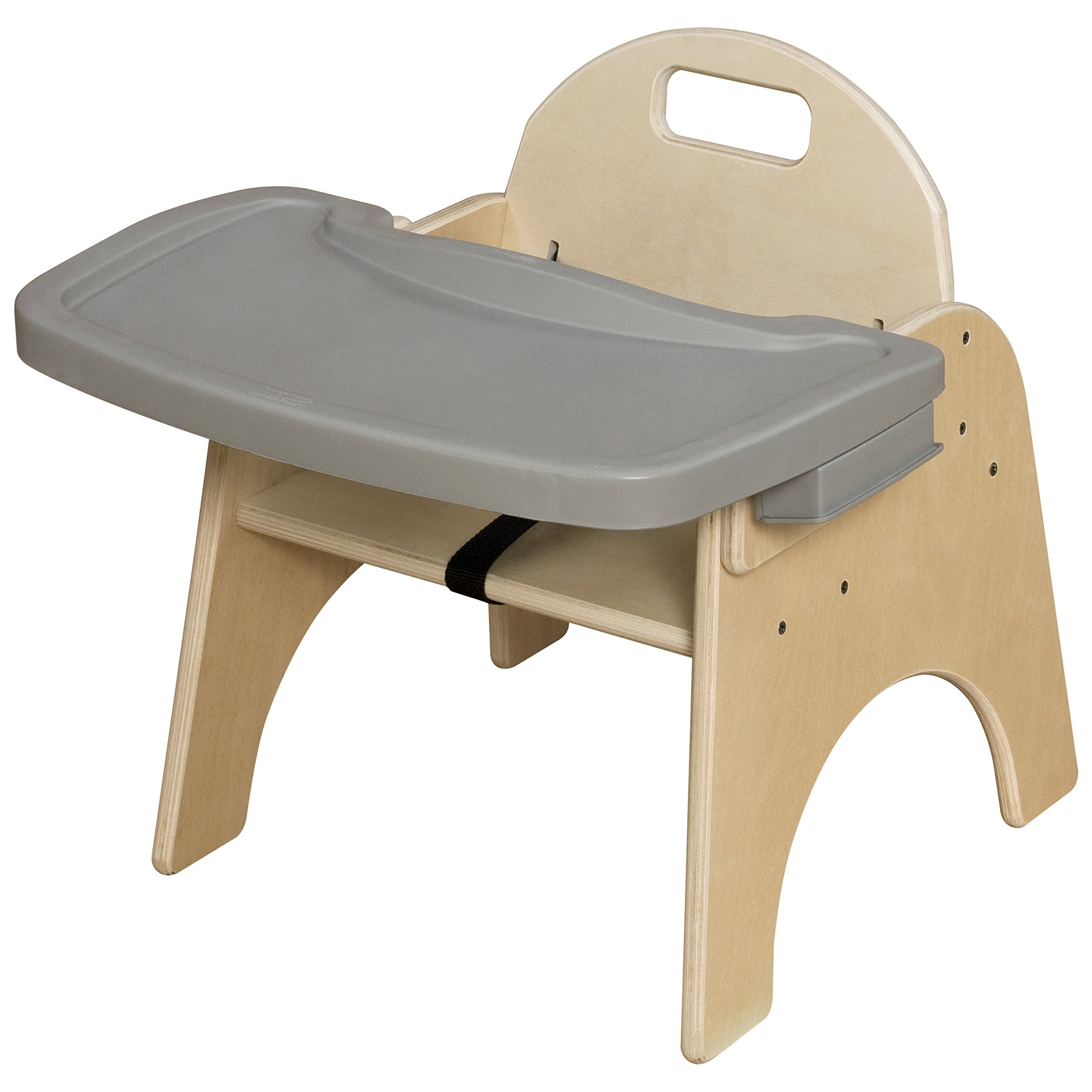 Wood Designs Stackable Woodie Toddler Chair with Adjustable Tray, 9'' High Seat