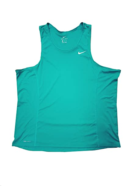 14f8255aa04e88 Nike Men s Dri-Fit Performance Dry Runners Joggers Tank Top Teal (Small)