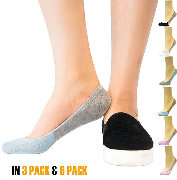 Thirty 48 Women s Premium No Show Socks with Non Slip Grip (3 or 6 Pairs 064e8a3ecf