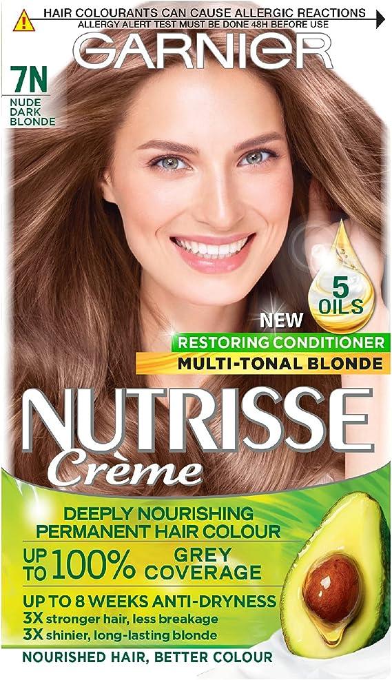 Garnier Nutrisse 7N - Tinte para el cabello permanente, Nude ...