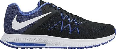 ecb869c779383 Nike Men's Zoom Winflo 3 Black-Pa Blu Running Shoes-6 UK/India (40 ...