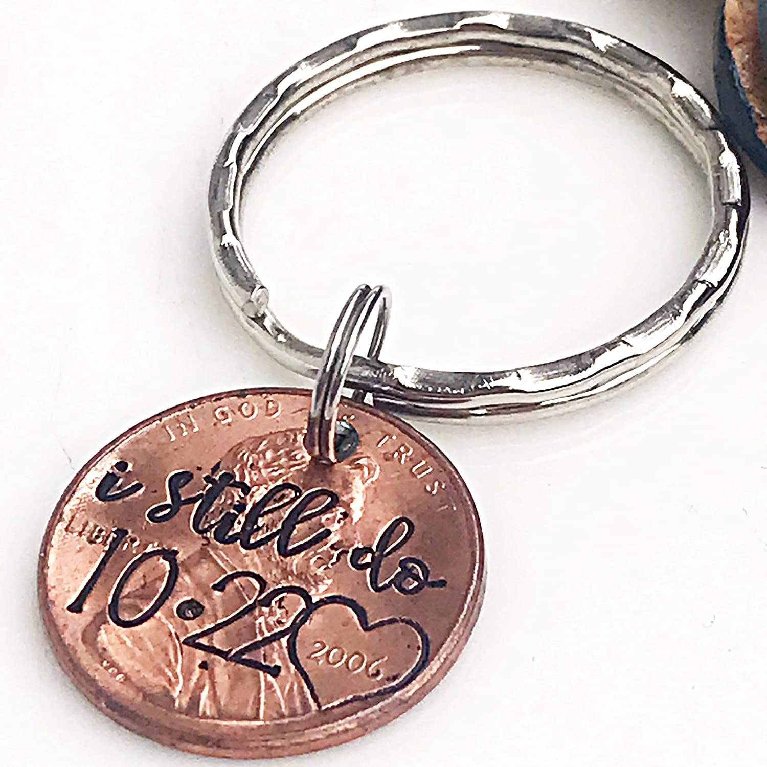 Amazon Com 7 Year Anniversary Gift For Him Copper Anniversary Present I Still Do Keychain Penny Keychain Husband Gifts Wife Gifts Custom Penny Handmade