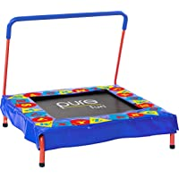 "Pure Fun Kids Preschool Jumper: 36"" Mini Trampoline with Handrail, Youth Ages 3 to 7"