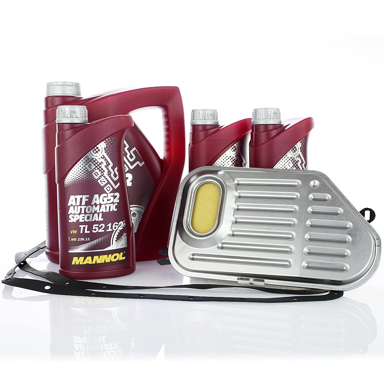 Hydraulikfilter + 7 Liter Getriebeö l Service Set Automatikgetriebe Filter + 7L Mannol Getriebe Ö L LOTT Set